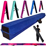 Marfula 8 FT / 9 FT Folding Balance Beam Gymnastics Floor Beam - Extra Firm - Suede Cover - Anti Slip Bottom with Carry…