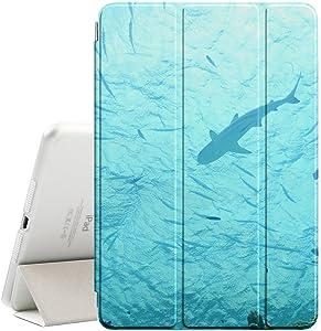 STPlus Shark Sea Animal Smart Cover with Back Case + Auto Sleep/Wake Funtion + Stand for Apple iPad Mini 4