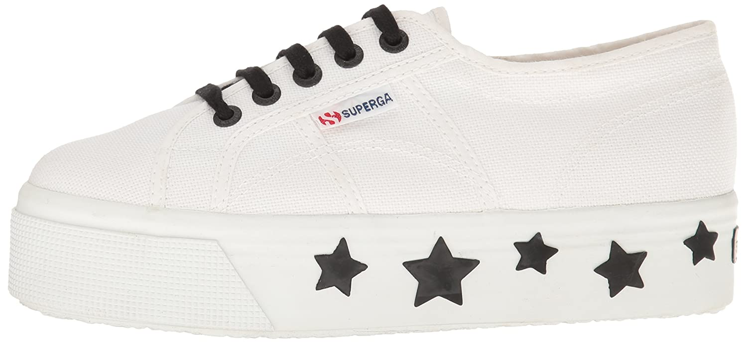 Superga Women's 2790 Coturbstrarw Fashion Sneaker B01LRG9DUI 40 EU/9 M US|White/Black