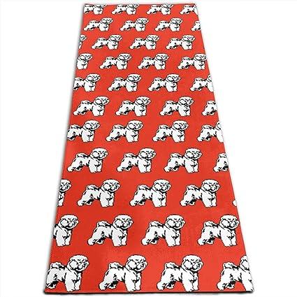 Amazon.com: Bichon Frise Dog Cute Pattern Printed Yoga Mat ...