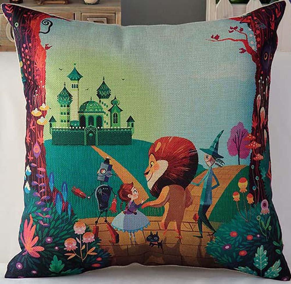 2016 New Style Animal Fish Cartoon Pillowcase,18*18 Inches,The Wizard Of Oz Poppy Hanada