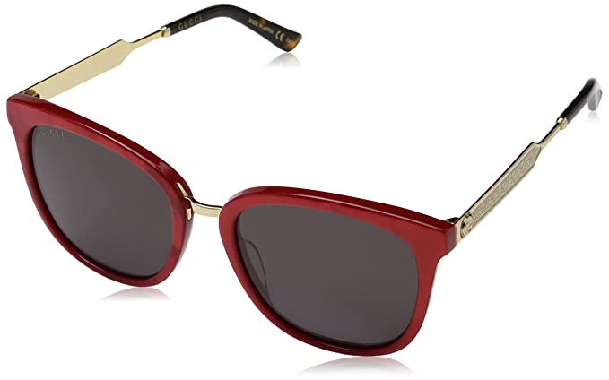 Gucci 0073S_004 (55 mm), Gafas de Sol Unisex-Adulto, Rojo/