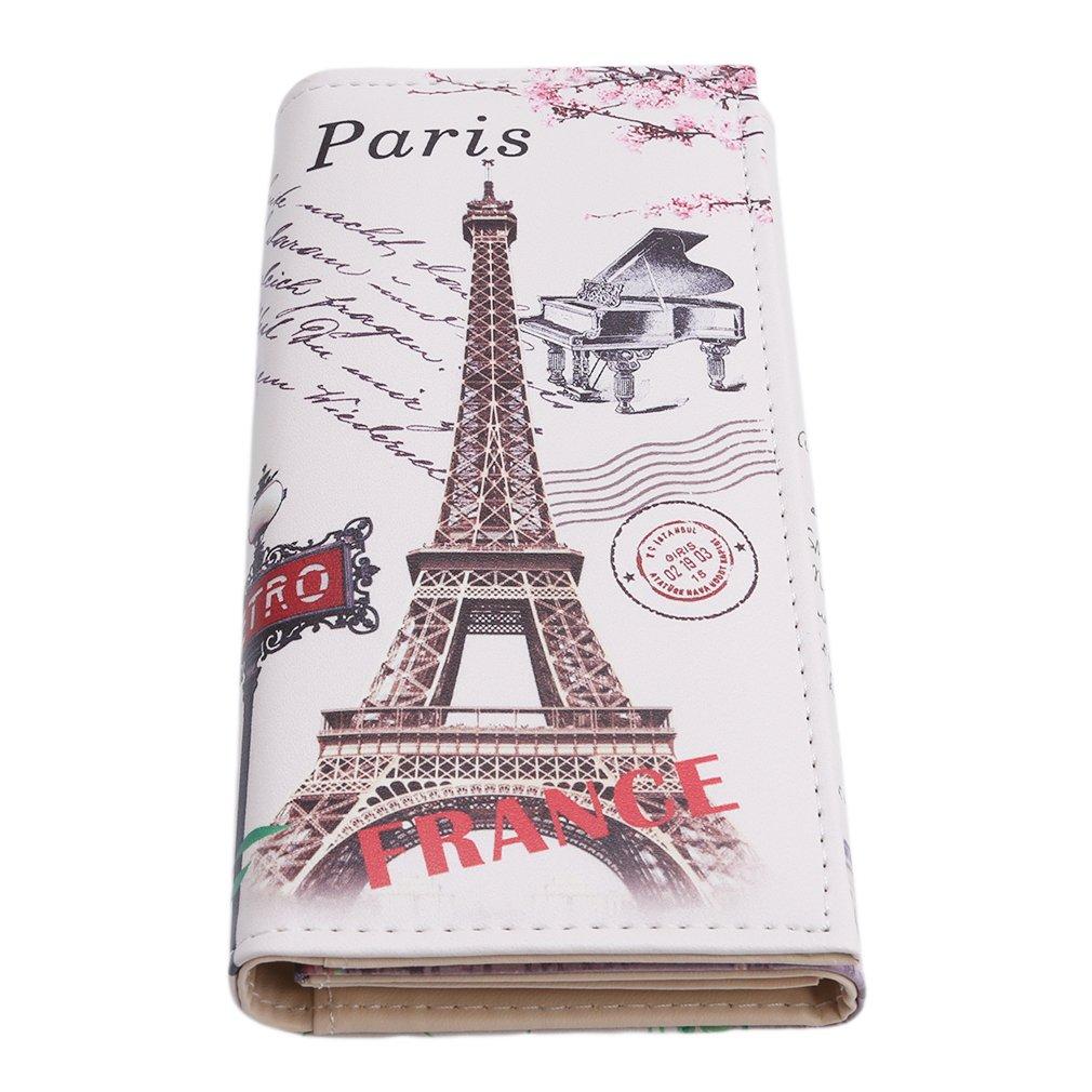 orliverhl mujeres de la moda de la torre Eiffel patrón cartera monedero titular de la tarjeta de Crédito embrague larga cartera: Amazon.es: Juguetes y ...
