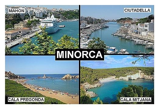 IMÁN PARA NEVERA - RECUERDO de MINORCA MENORCA SPAIN MAHON 9cm x ...