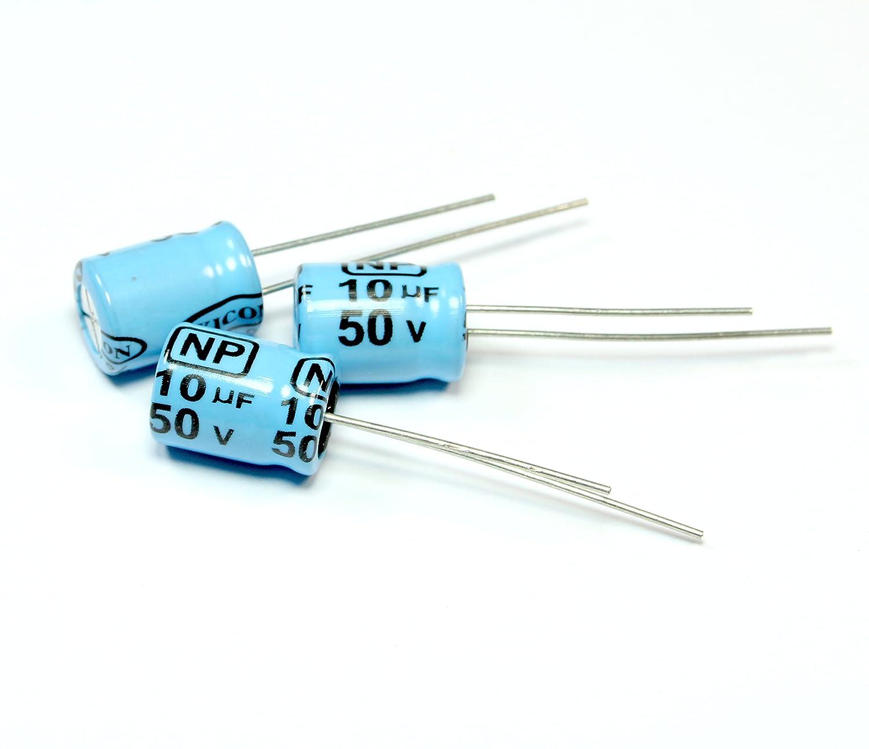 NB #38 6pcs Xicon Radial Electrolytic Capacitor 10uF 50v BP NP Bipolar Non-polarized