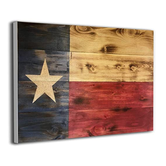 Amazon Com Wood Texas Flag Frameless Wall Painting Artwork Painting