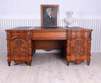 Palazzo table de bureau en acajou style ancien format xxl amazon