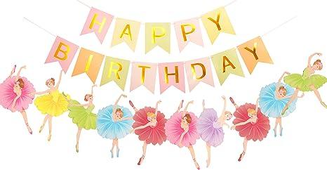 Amazon.com: Bailarina decoración de fiesta de cumpleaños ...