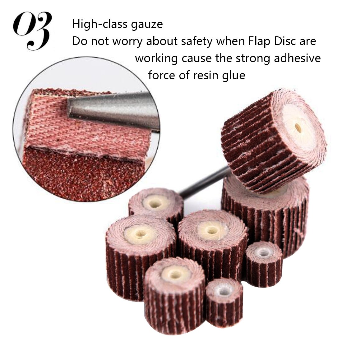 10pcs Flap Wheel Brushes Emery Cloth Abrasive Sandpaper Grinding Compatible for Woodworking Disc 20mm 320# 1pc Mandrel
