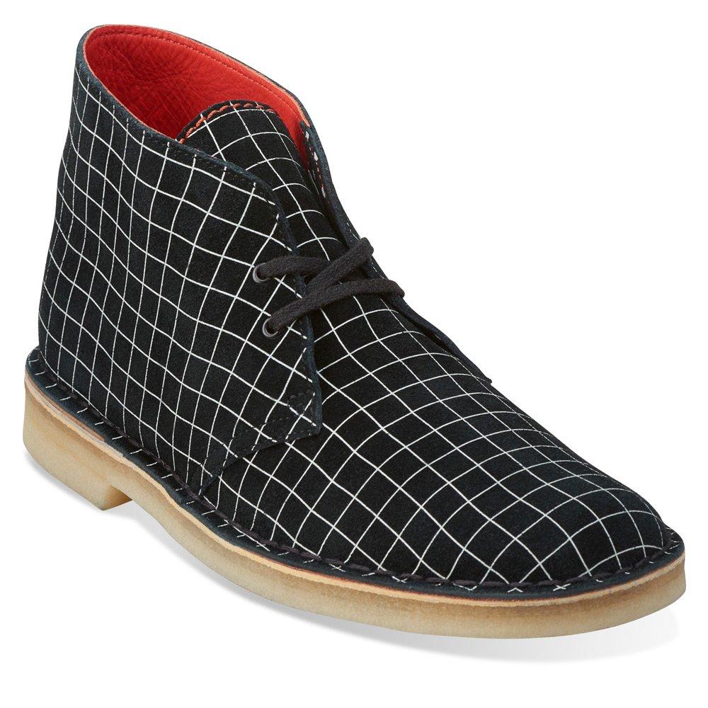 schwarz Weiß Grid Clarks - - Herren Desert Stiefel