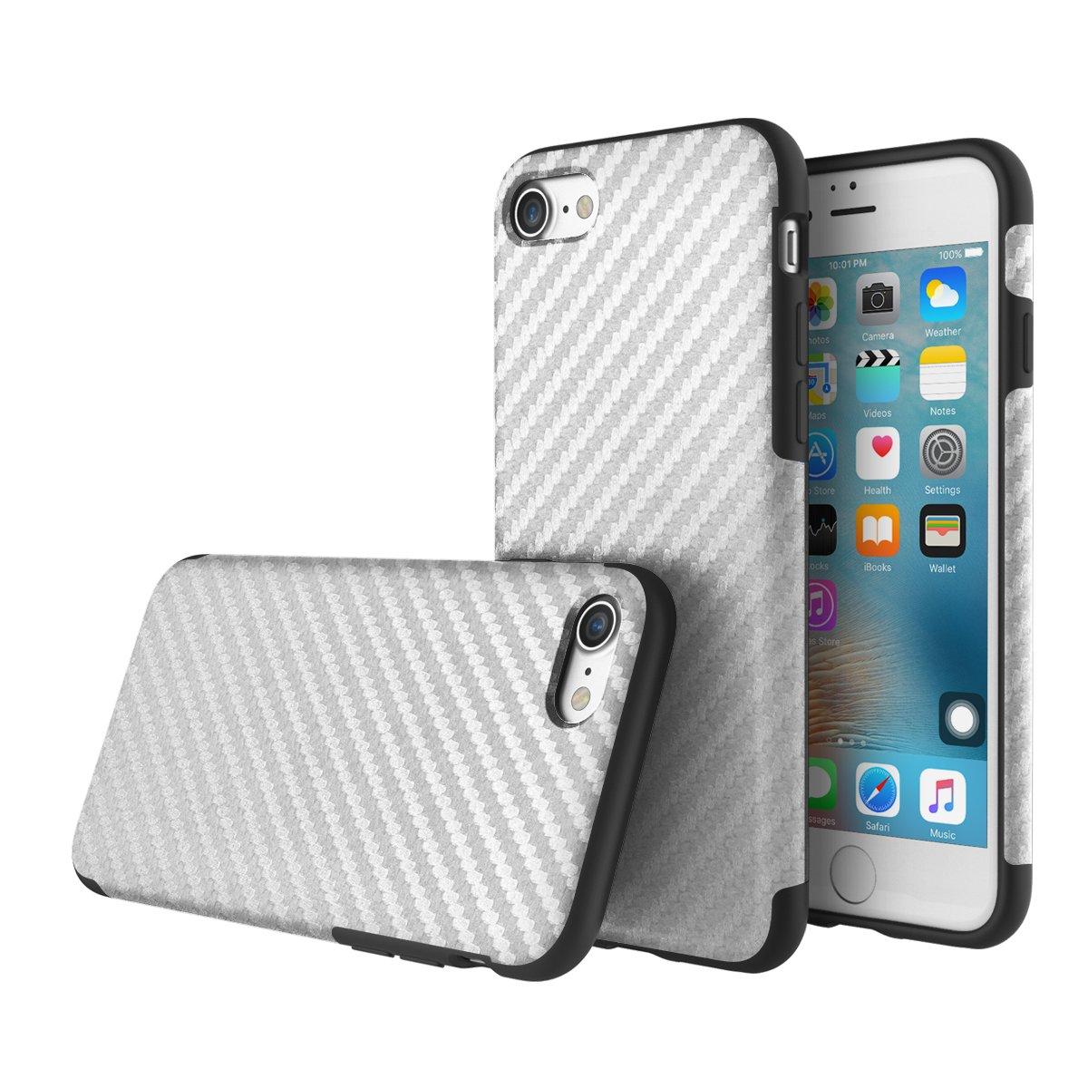 Carbon Fiber Case For Apple iPhone 7 plus//iphone 8 plus For iPhone7// 8 plus Case,ROCK