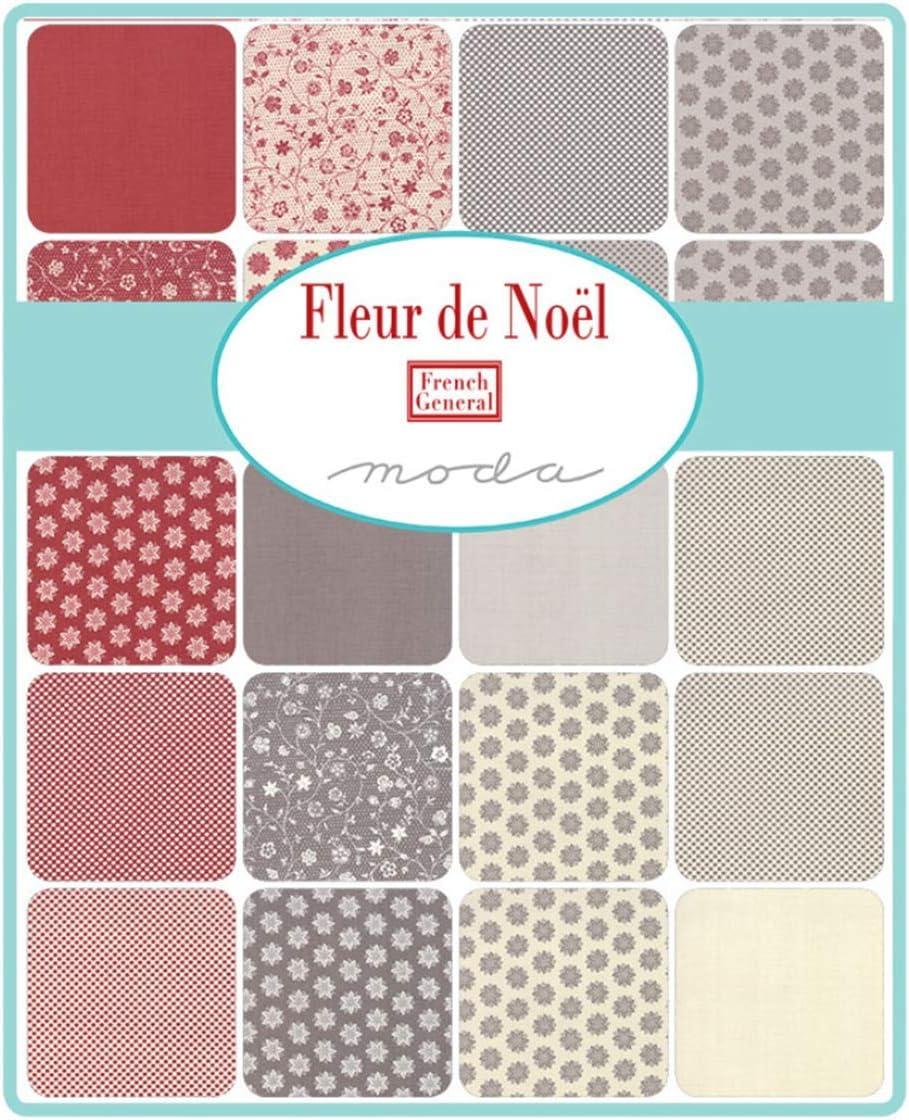 Moda Tela Flor de Noel Jelly Roll-Patchwork Quilting tiras de 2.5 pulgadas