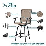 PHI VILLA 2 Piece Outdoor Swivel Bar Stools