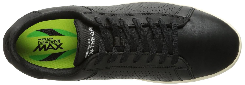Skechers Go Vulc 2-Grandeur, Zapatillas para Hombre, Negro (Black/Natural Bknt), 47 EU