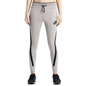 Nike Damen District 72 Hose, Dark grau Heather/Schwarz, Large ...