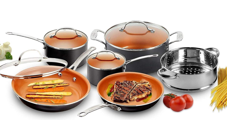 Piece Kitchen Nonstick Frying Pan & Cookware Set - 4 Colors -NEW