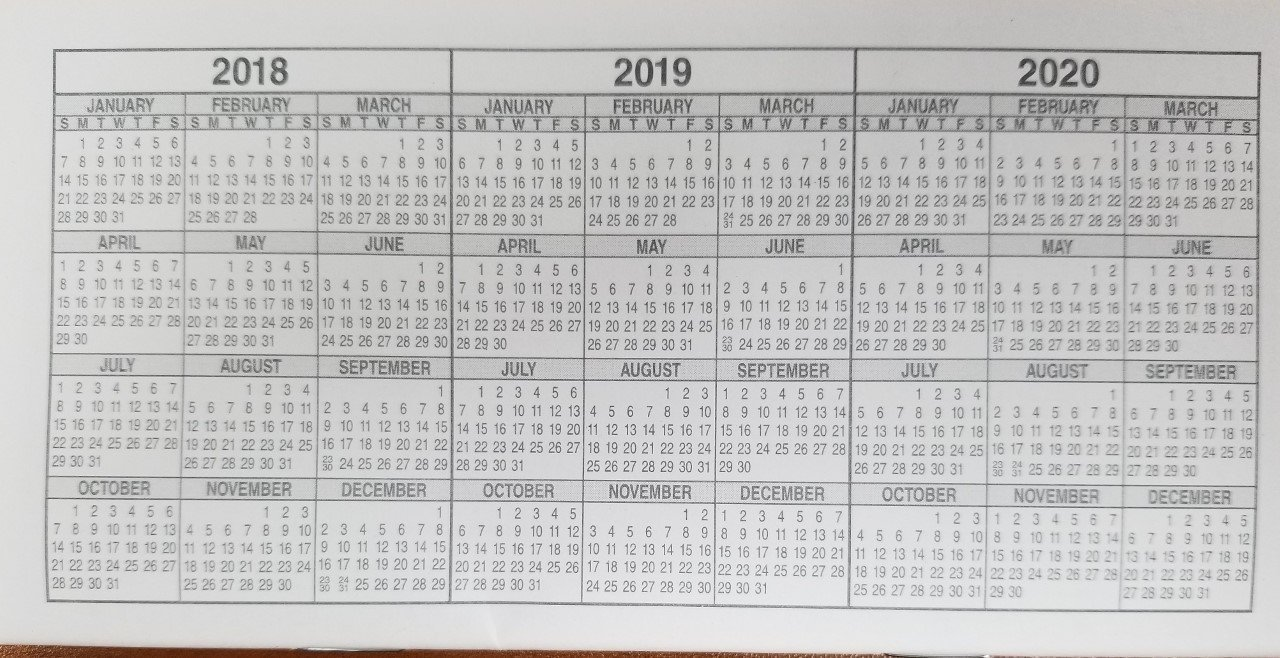 10 Checkbook Registers - 32 Pages with 510 Lines - 2018/19/20 Calendars