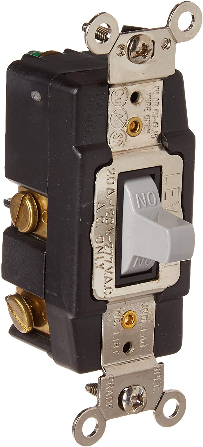 Cooper Ivory SPDT DOUBLE THROW Maintained Contact Toggle Switch 20A 277V 2225V