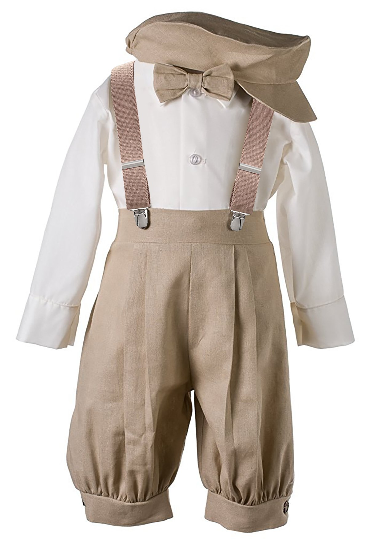 Vintage Baby Toddler Boys Knickers Suit Set Tan 24M/2T by AMK