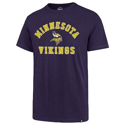 4e9f240cd Amazon.com    47 Minnesota Vikings NFL Varsity Arch Super Rival T-Shirt -  Small   Sports   Outdoors