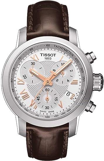 Tissot PRC 200 cronógrafo reloj de mujer de piel T0552171603302: Amazon.es: Relojes