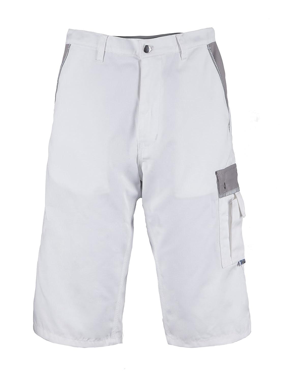 TMG® Short de Travail/de Peintre résistant - Short Cargo - Homme - Blanc (EU44 / W28 R) 153500-44