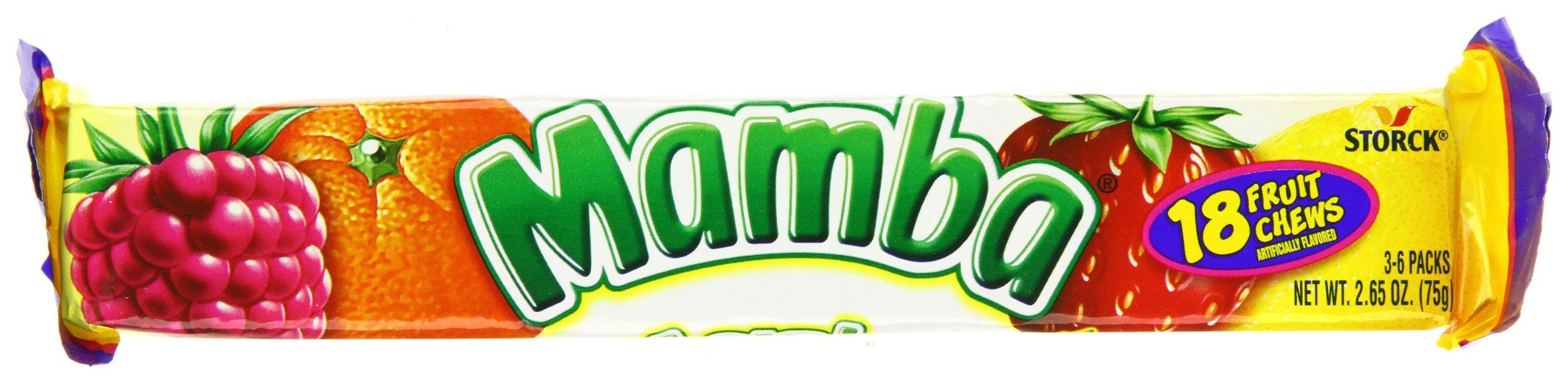Mamba Fruit Chews, 18 ct