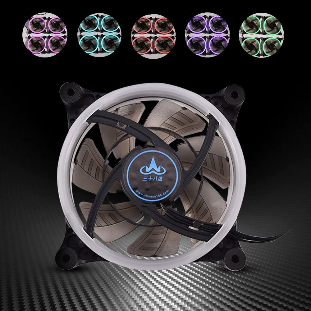 120mm 7-Blade RGB LED Adjustable Light Computer PC Case Cooling Fans High Airflow Quiet Cooler Computer Cooling Fans Asixx pc Cooling Fan