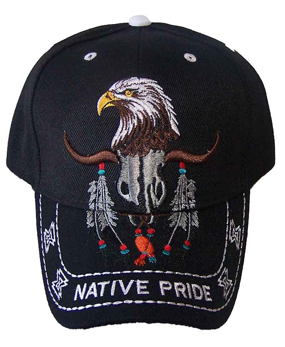 f13fdc013c0 Native Pride Baseball Caps Eagle Embroidered Hat (ASCAPNP619) at Amazon  Men s Clothing store