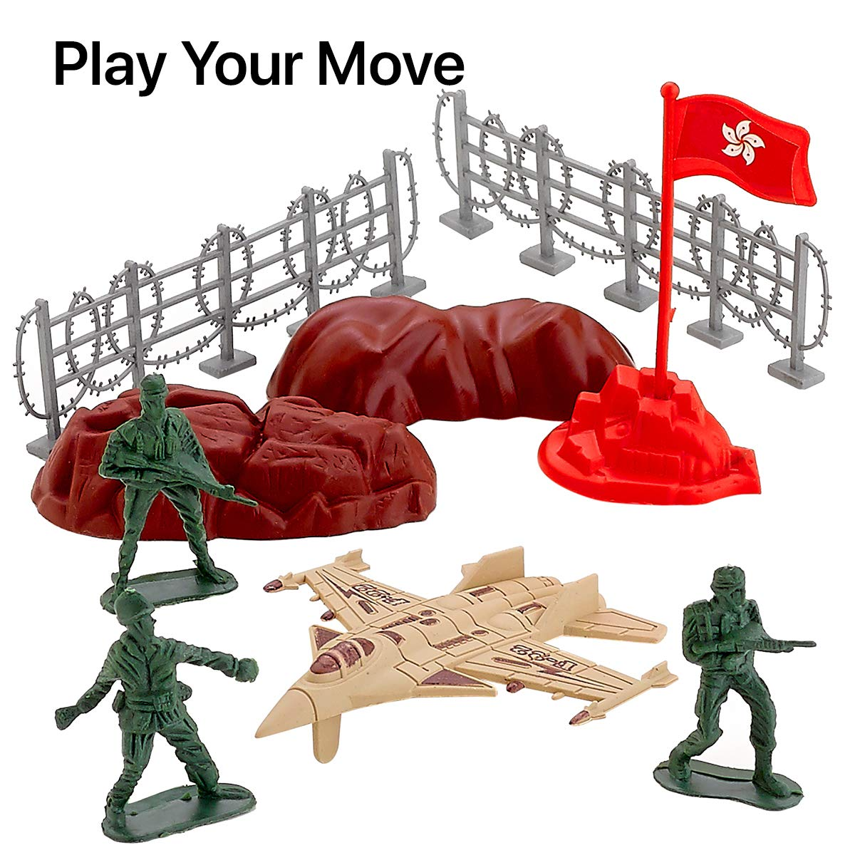 6 Pack Army Set Kicko Army Playset Mix Simulation Toy Set Plastic Army Toy Mini Army Action Figures