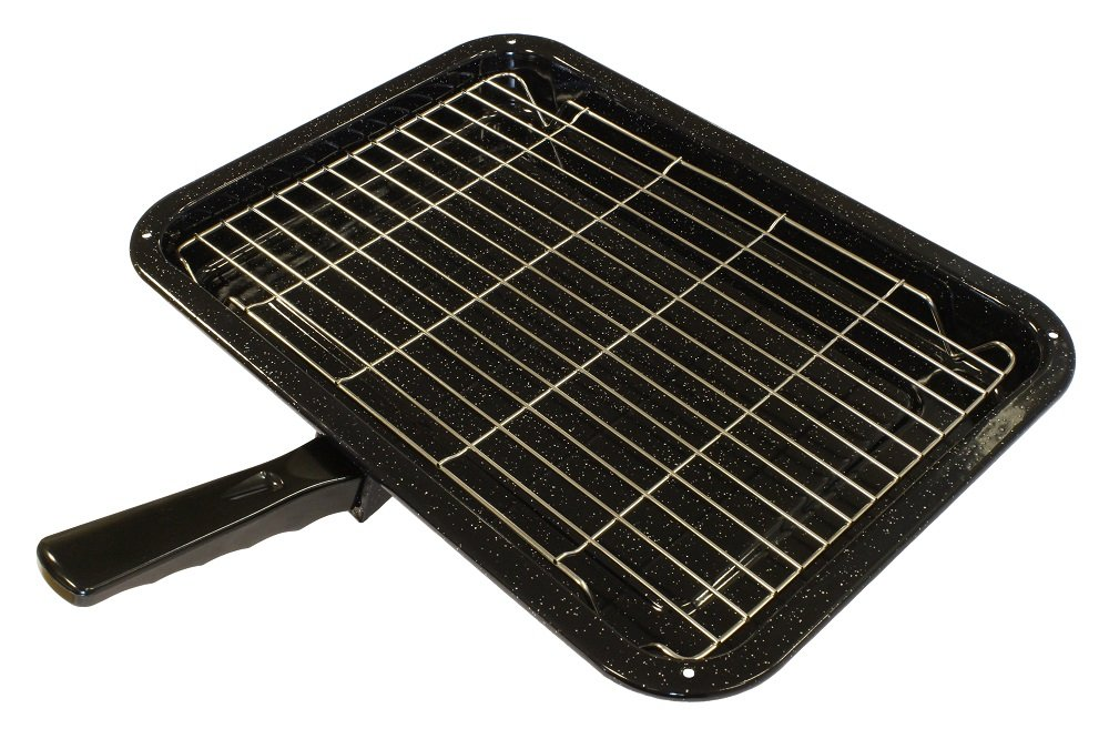 Durable Universal Oven Cooker Grill Pan Rack & Detachable Handle 380 x 280mm Zinc Products