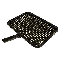Durable Universal Oven Cooker Grill Pan Rack & Detachable Handle 380 x 280mm