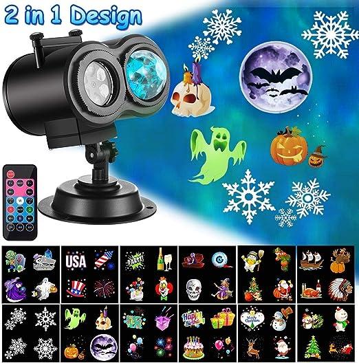 Amazon.com: Proyector de luces de Navidad con diseño de olas ...