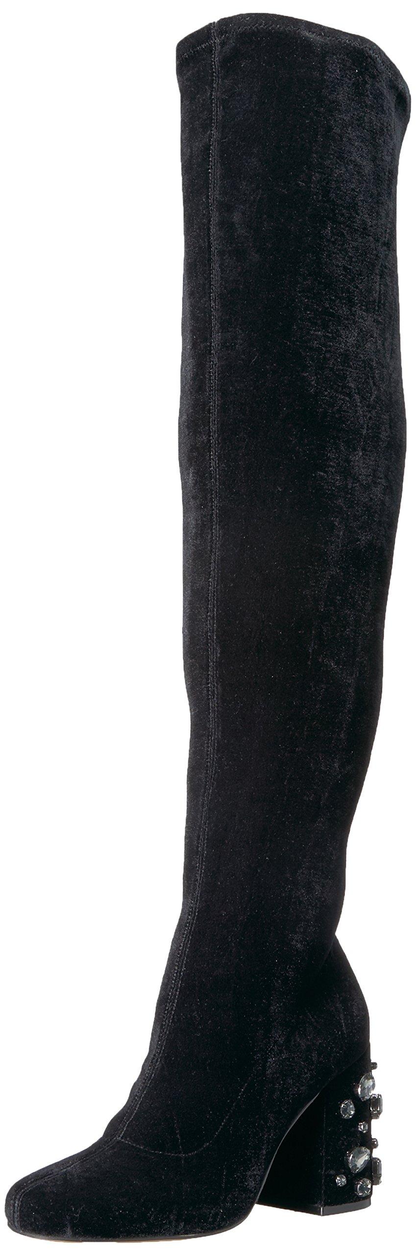 The Fix Women's Sophia Embellished Block Heel Over-The-Knee Boot, Black, 10 B US