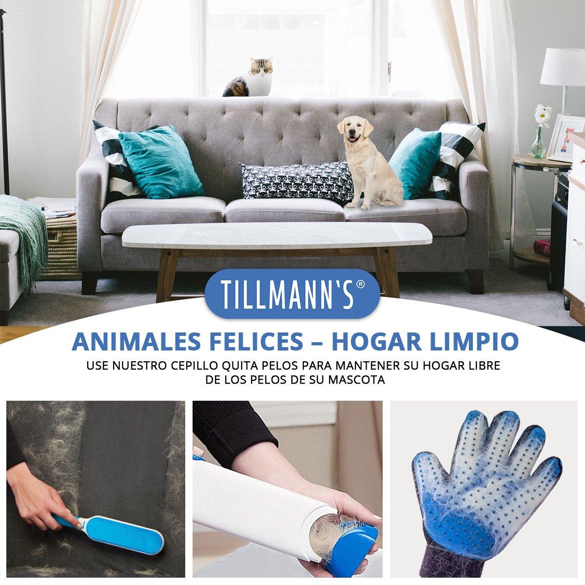 HappyPets Quita Pelos Gato - Perro - Mascotas | Cepillo Recoge Pelos | Atrapa Pelos Del Sofa O La Ropa | Quitapelos Pet Hair: Amazon.es: Productos para ...