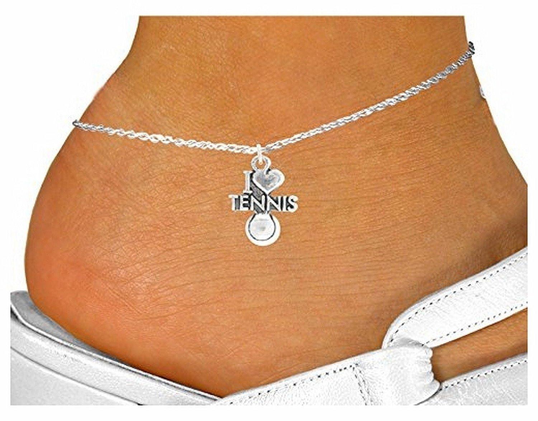 """I Love Tennis"" Anklet"