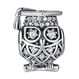 Amazon Price History for:ANGELFLY 925 Sterling Silver Graduate Owl Charm with Cap Lucky Animal Graduation Charms for Bracelets