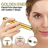 24k Golden Pulse Facial Massager, T-Shape Face