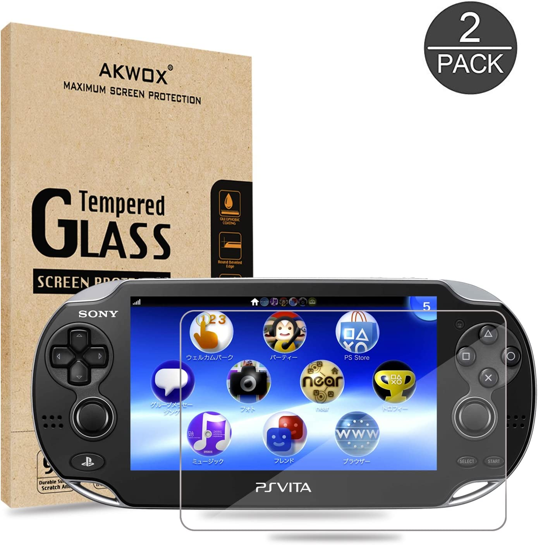 2 Unidades] Protector de Pantalla para Sony PS Vita 1000 Akwox [9H ...