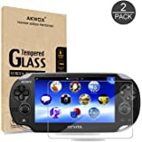 (Pack of 2) Screen Protector For PS Vita 1000, Akwox Premium HD Clear 9H Tempered Glass Screen Protective Film For Sony PlayStation Vita PSV 1000-Max Clarity And Touch Accuracy Film