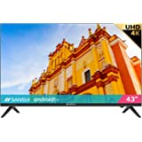 """SANSUI ES43S1A 43"""" Television 43 inch UHD HDR Smart TV with Google Assistant (Voice Control), Screen Share, HDMI, USB(2021 Mo"""