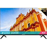 """SANSUI ES43S1A 43"""" Television 43 inch UHD HDR Smart TV with Google Assistant (Voice Control), Screen Share, HDMI, USB…"""