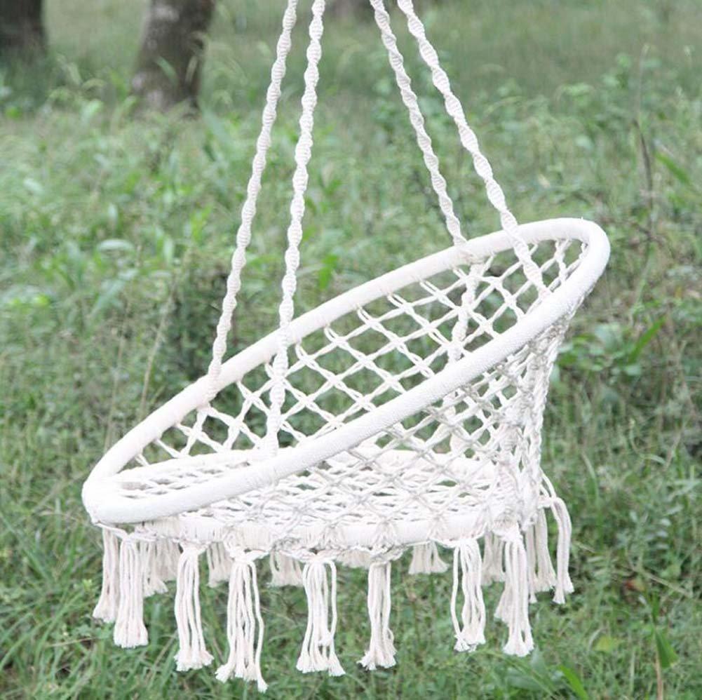 Nlne Outdoor Indoor Weiß Hängematte Portable Fashion Warm Sicherheit Baumwolle Schaukel Stuhl