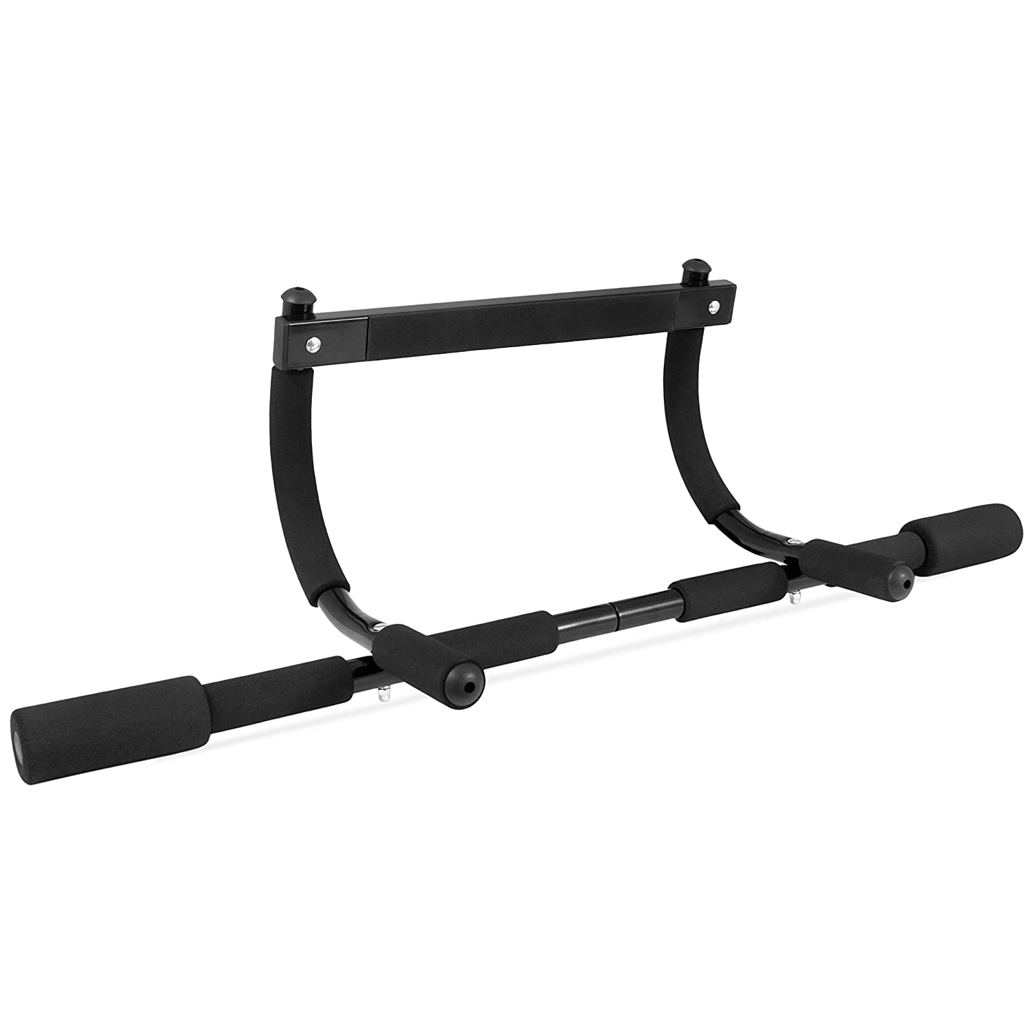 "ProsourceFit Multi-Grip Lite Pull Up/Chin Up Bar, Heavy Duty Doorway Upper Body Workout Bar for Home Gyms 24""-32"""