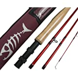 All times Fly Fishing Rod IM8 Graphite Fly Fishing Rod Blank 8.6/9/10ft 4pc Fly Rod Medium Fast Action Fly Fishing Rod IM8 Graphite with Cordura Rod Tube