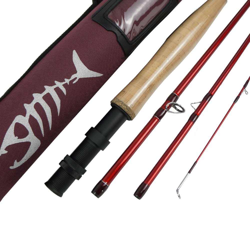 Aventik Ultra Light Weight Fly Fishing Rod IM8 Graphite Rod Blank 8.6 9 10ft 4pc Fly Rod Cordura Rod Tube