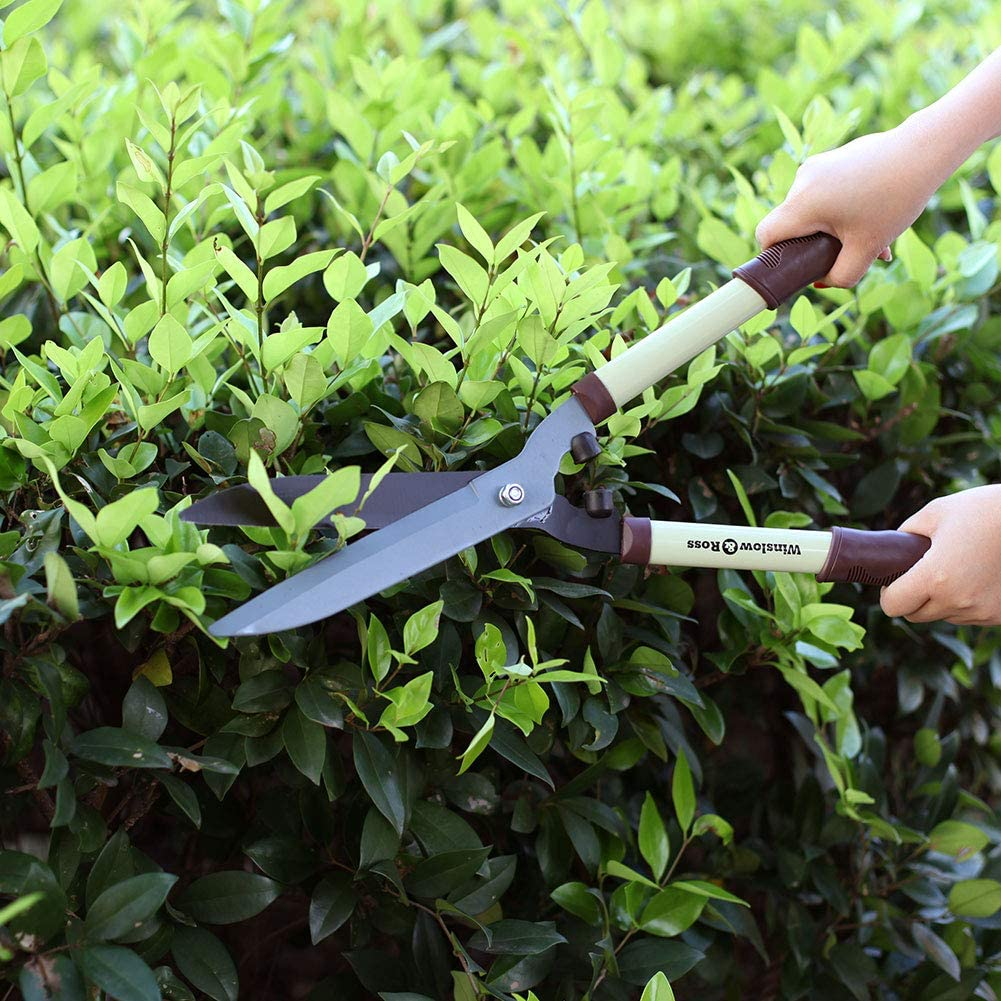 """WINSLOW & ROSS Durable Labor-Saving Hedge Trimmer Bypass Lopper with Sharp Blade and Soft Rubberized Non-Slip Ergonomic Handle - Premium Garden Tool for Tree Trimmer, Branch Cutter -21"""""""