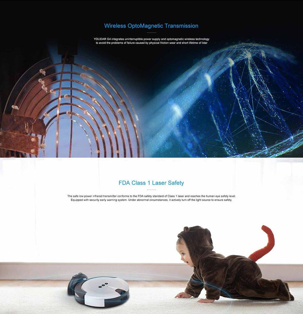 SmartFly info YDLIDAR G4 - Lidar Laser Rangefinder, 2D Laser Scanner for  ROS SLAM Robot