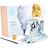 3D Adult Holding Hand Casting Kit with Gold Paint – Create a Unique Stylish Sculpture at Home - Perfect Gift for Wedding, Anniversary and Christmas