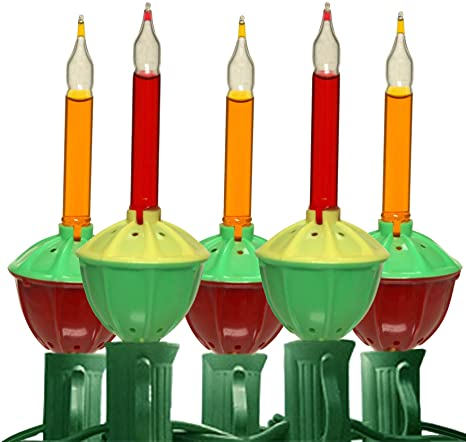 Christmas Bubble Lights.Amazon Com Multi Colored Christmas Bubble Lights Set 1002